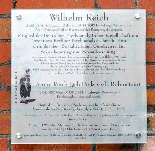 Gedenktafel für die Reichs in Berlin